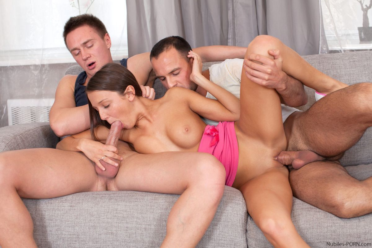 Two men one girl threesome — 6